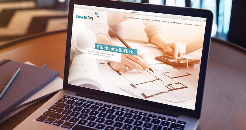 BauwertPlus stellt Website online